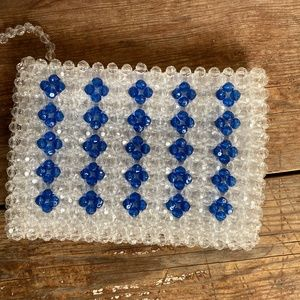 Anthropologie Beaded Pouch Bag